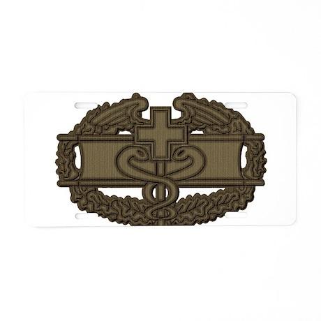 Combat Medic OD Aluminum License Plate