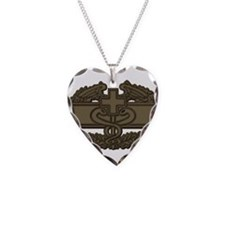 Combat Medic OD Necklace Heart Charm
