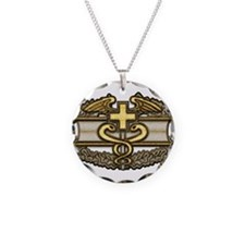 Combat Medic(gold) Necklace Circle Charm