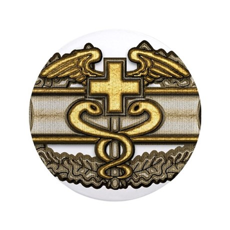 "Combat Medic(gold) 3.5"" Button"