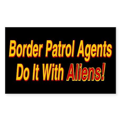 Border Patrol Agents - Rectangle Sticker