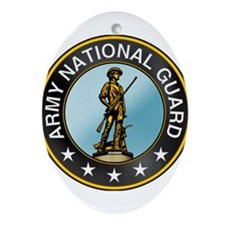 Army National Guard Ornament (Oval)