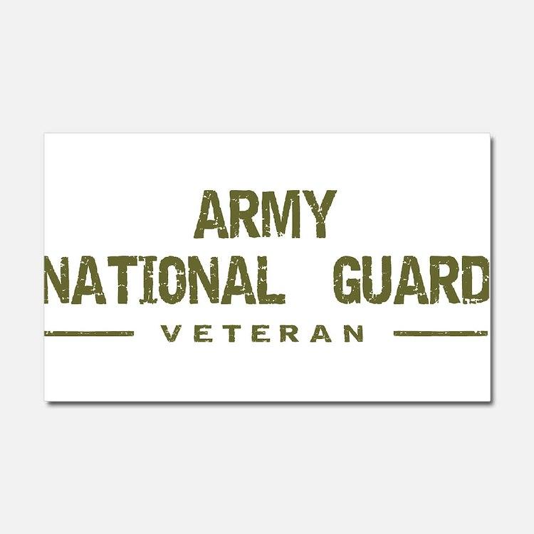 Guard Veteran Car Magnet 20 x 12
