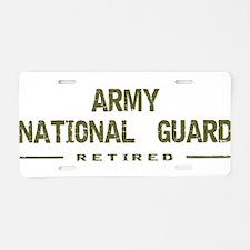 Retired Guard Aluminum License Plate