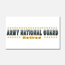 Army Guard Retired Car Magnet 20 x 12