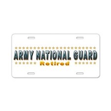 Army Guard Retired Aluminum License Plate
