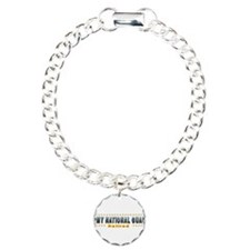 Army Guard Retired Charm Bracelet, One Charm