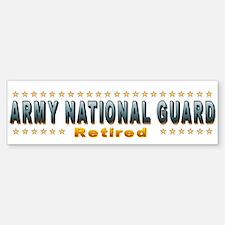Army Guard Retired Bumper Bumper Sticker
