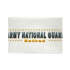 Army Guard Retired Rectangle Magnet (10 pack)