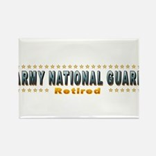 Army Guard Retired Rectangle Magnet