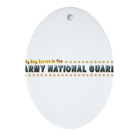 My Army Guard Boy Ornament (Oval)