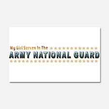My Army Guard Girl Car Magnet 20 x 12