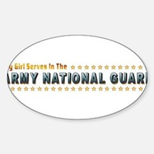 My Army Guard Girl Sticker (Oval)