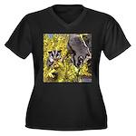 Flowers #9 Women's Plus Size V-Neck Dark T-Shirt