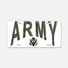 Army & Eagle Aluminum License Plate