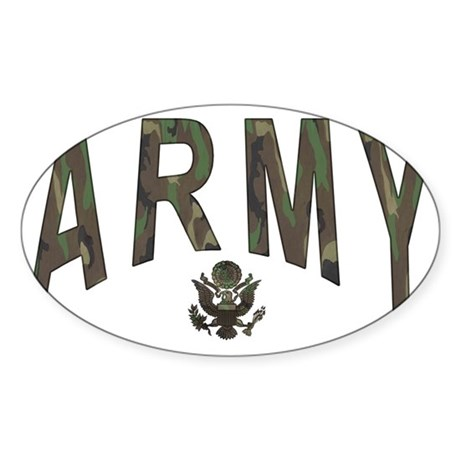 Army & Eagle Sticker (Oval 10 pk)