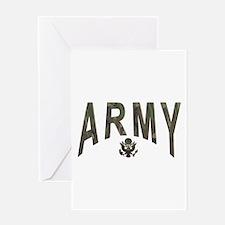 Army & Eagle Greeting Card