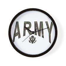 Army & Eagle Wall Clock