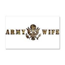 Army Wife Car Magnet 20 x 12