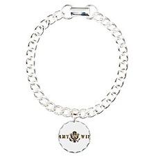 Army Wife Charm Bracelet, One Charm