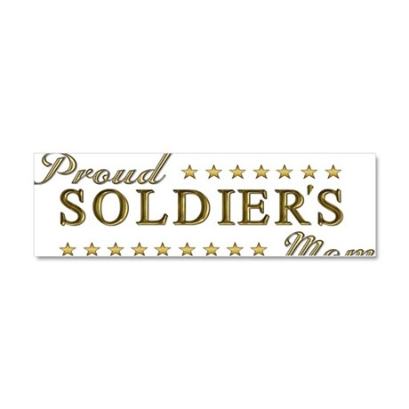 Soldier's Mom Car Magnet 10 x 3
