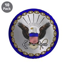 """US NAVY 3.5"""" Button (10 pack)"""