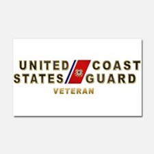 USCG Veteran Car Magnet 20 x 12