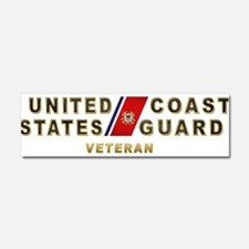 USCG Veteran Car Magnet 10 x 3