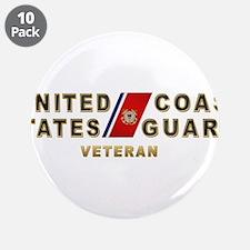 """USCG Veteran 3.5"""" Button (10 pack)"""