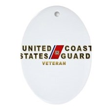 USCG Veteran Ornament (Oval)