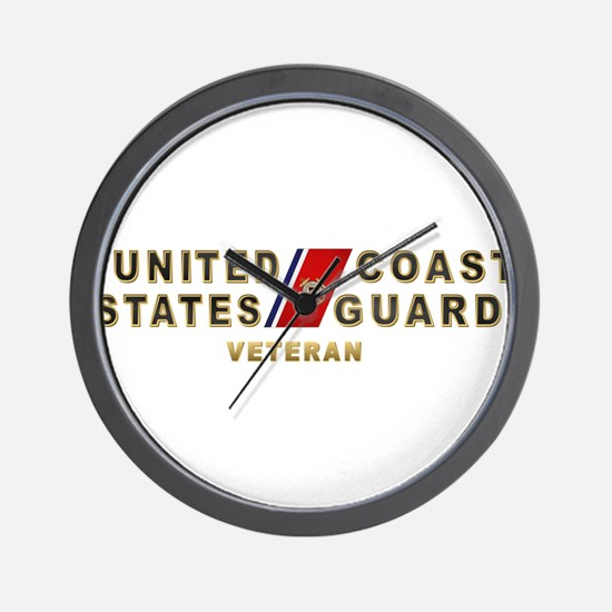 USCG Veteran Wall Clock