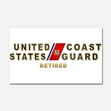 USCG Retired Car Magnet 20 x 12
