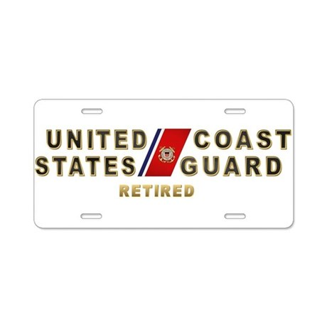 USCG Retired Aluminum License Plate