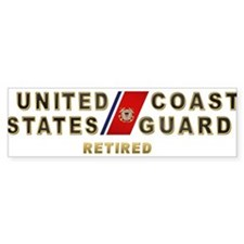 USCG Retired Bumper Sticker
