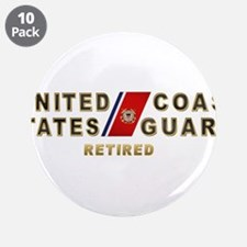 """USCG Retired 3.5"""" Button (10 pack)"""