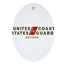 USCG Retired Ornament (Oval)