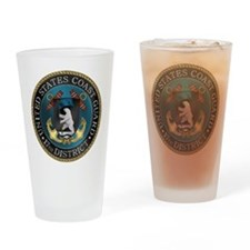 17th District USCG Drinking Glass