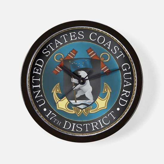 17th District USCG Wall Clock