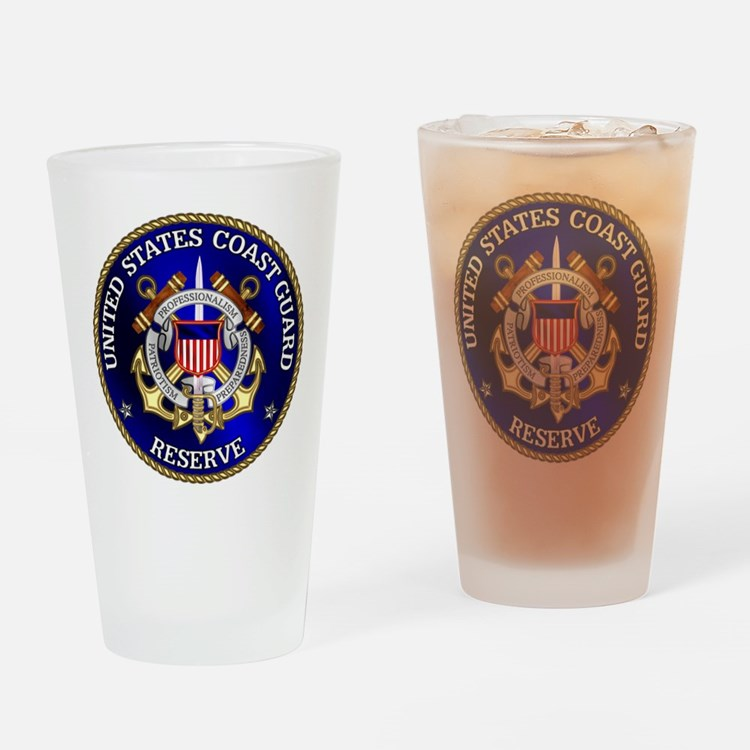 USCG Reserve Drinking Glass