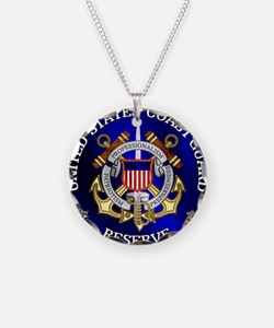 USCG Reserve Necklace Circle Charm
