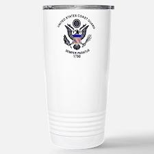 USCG Flag Emblem Stainless Steel Travel Mug
