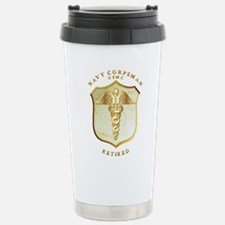 Corpsman USMC Retired Travel Mug