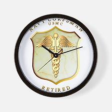 Corpsman USMC Retired Wall Clock