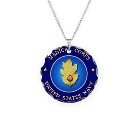 Navy Medical Corps Necklace Circle Charm