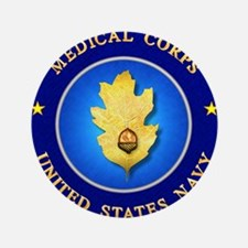 "Navy Medical Corps 3.5"" Button"