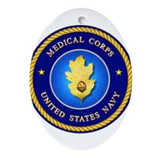 Navy Medical Corps Ornament (Oval)