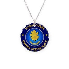 Navy Nurse Corps Necklace Circle Charm