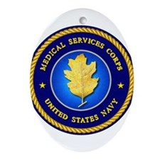 Navy Medical Services Ornament (Oval)