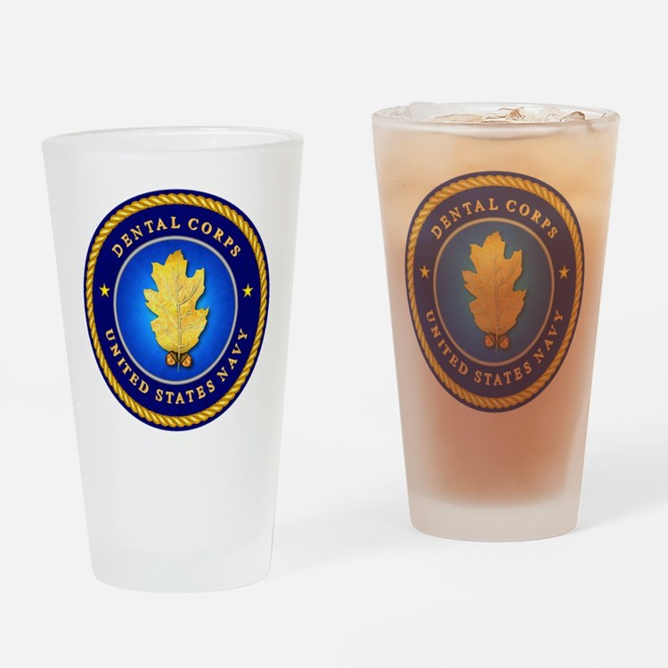 Navy Dental Corps Drinking Glass