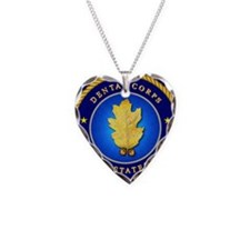 Navy Dental Corps Necklace Heart Charm
